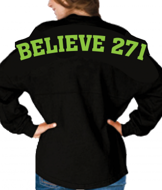 Believe 271 Game Day Shirt Back