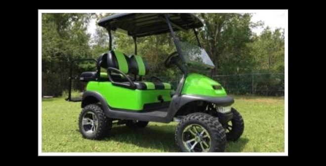 Believe 271 Custom Golf Cart Winner